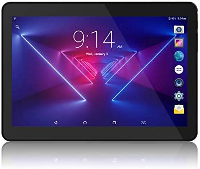 Lectrus Tablet 10 inch Android 8.1 Go, Quad-Core & 1.3GHz, 5G WiFi Tablets PC with Dual Cameras, 800x1280 Touch Screen Full HD Display, 16GB, 6000mAh Battery, Bluetooth, FM, YouTube, Black
