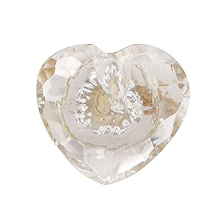 Glass Faceted Heart Door Knob Clear: Amazon.co.uk: Kitchen & Home