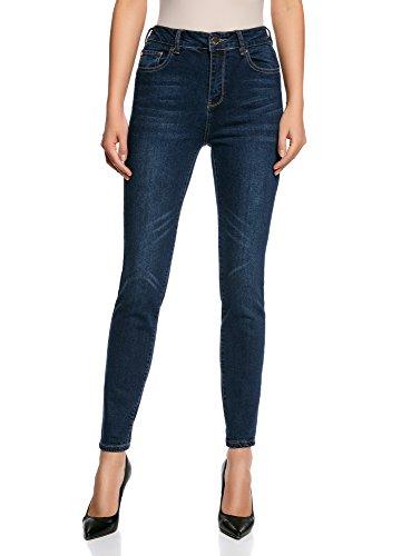Jean oodji 7900w Haute Taille Ultra Slim Femme Bleu STwTEx4q