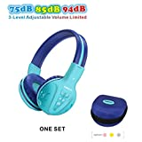 SIMOLIO Wireless kids Headphones with Volume Limited, Kids Headphones Bluetooth for Hearing Protection, Kids Headsets Wireless, Over-Ear kids Headphones Bluetooth and Wired for Girls,Boys,Teens (Mint)