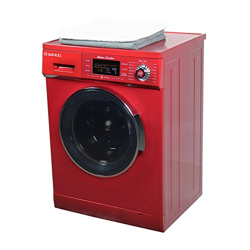 All in one Front Load 1.6 Cu.ft. New Compact Combo Washer Dryer SK 4400 CV Merlot with Optional Venting/ Condensing Drying with Automatic Water Level and Sensor Dry by Sekido