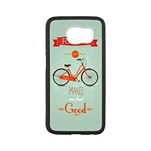 Samsung Galaxy S6 Cell Phone Case Black quotes riding my bicycle feels good SUX_046349