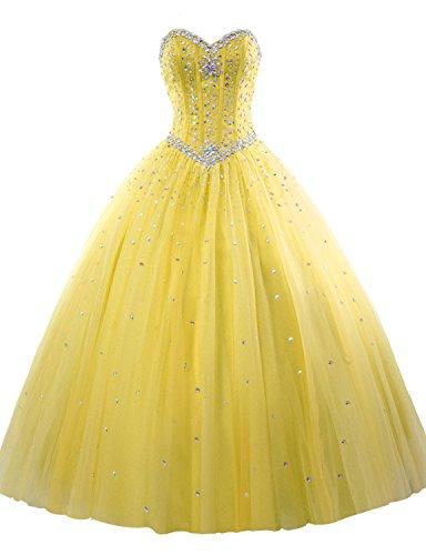 beautiful yellow quinceanera dresses - 3