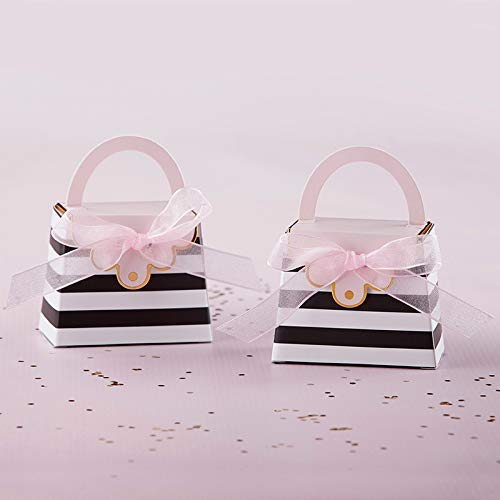 Striped Purse Favor Box | Kate Aspen, Perfect Party Favor Container & Decoration for Bridal Showers, Baby Shower, Birthdays, Bachelorette Party, Anniversary, Engagement or Wedding Favors - 288pcs