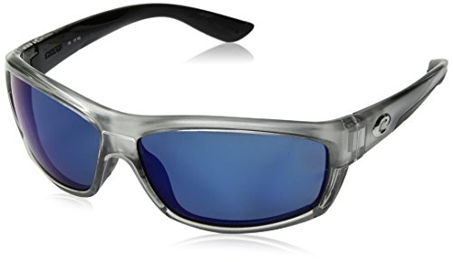 (Costa Del Mar Saltbreak Sunglasses Silver/Blue Mirror 580Plastic)