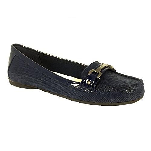 Anne Klein Women's Kolleen Navy/Navy Fabric Shoe