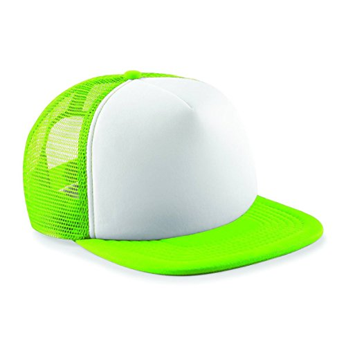 Amazon.com: Beechfield Vintage Snapback Trucker - Lime Green/White: Clothing