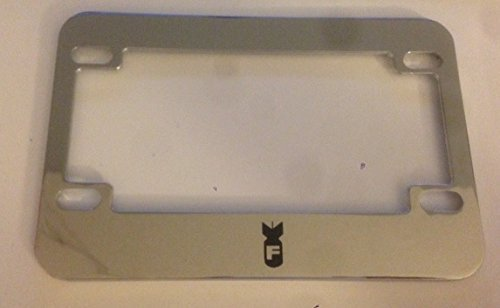 Scooter License Plate Frame Jdm Style Chrome Motorcycle F Bomb with Missle