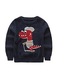 MIGO BABY Little Boys' Girls' Long Sleeve Sweater Knit Pullover Sweater (Toddler/Kid)