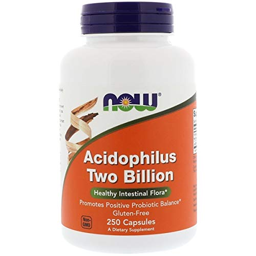 (NOW FOODS ACIDOPHILUS TWO BILLION, 250 CAPSULES, 2-PACK)