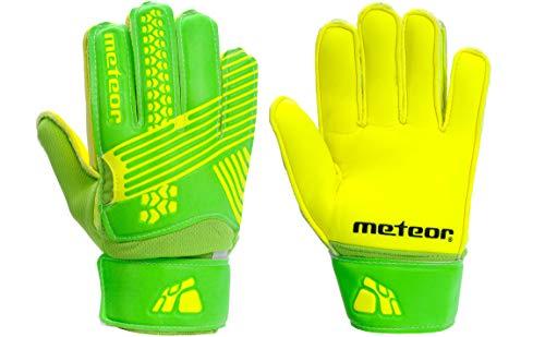 meteor Guantes Portero Goalkeeper Gloves Entrenamiento Futbol Equipacion fútbol niños – protección para los Dedos…