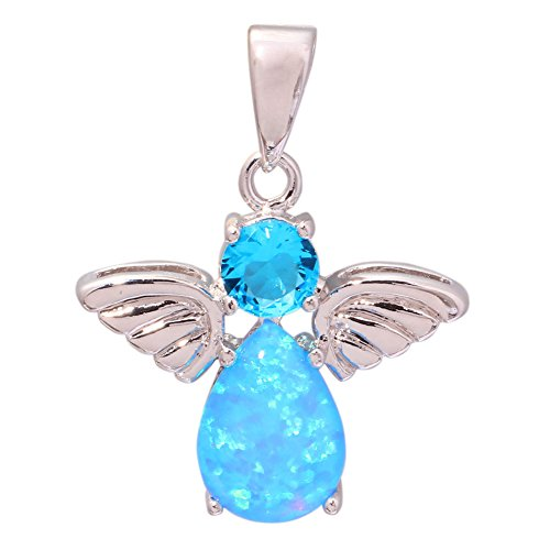 Slide Alexandrite (Blue Fire Opal Aquamarine Silver for Women Jewelry Gemstone Pendant 1 OD6027)