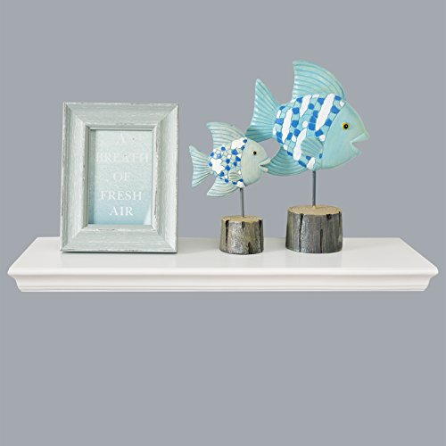 Review WELLAND Dover Floating Ledge Wall Shelves, 24-inch, White By WELLAND by WELLAND