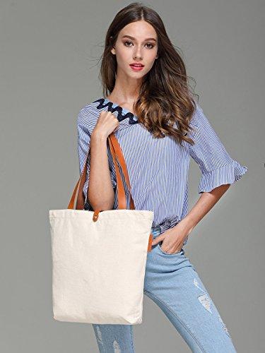 So'each Women's Canvas Beach Shopper Top Handle Canvas Tote Shoulder Bag