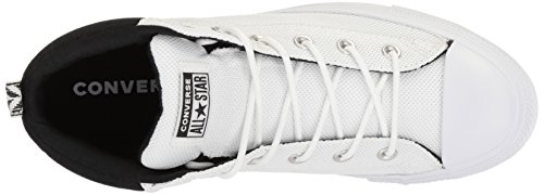 Converse Mens Street Nylon Mid Top Sneaker White/Black/White qVONX