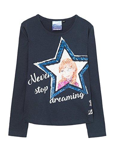 T lunghe T maniche Shirt 5096 blu Ts sacramento Desigual a Tinta azul shirt Iqw8OrI