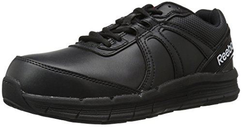 Reebok Work Men's Guide Work RB3501 Industrial and Construction Shoe, Black, 10.5 M (Toe Electrostatic Dissipating Slip)