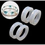 Sparklelife 4PCS Silicone Mould Mold Round for Resin Curve Bangle Bracelet Jewelry Making DIY