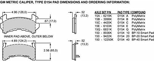WILWOOD 120-11870-RD Caliper-D154-Red 2.50 Piston 1.04 Disc
