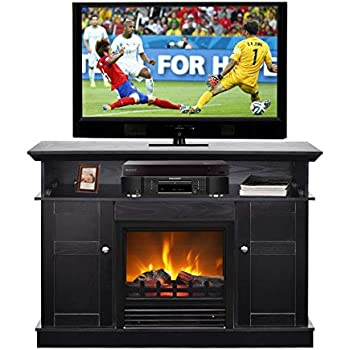 Amazoncom Ameriwood Home Brooklyn Electric Fireplace Tv Console