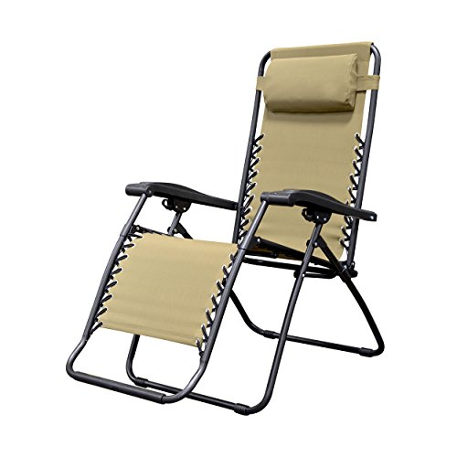 Caravan Sports Infinity Zero Gravity Chair, Beige - Folding Lounge Chair