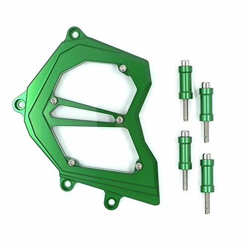 XX eCommerce Motorcycle Motorbike Billet Aluminum Front Chain Sprocket Engine Cover For 2011-2014 Kawasaki ZX-10R 2012 2013 (Green)