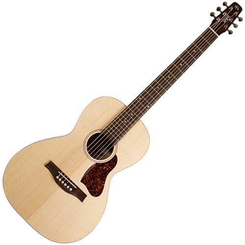 (Seagull Entourage Grand Natural 6-String Acoustic Electric Guitar with Fishman Sonitone Preamp System, 21 Frets, Solid Spruce Top, Wild Cherry Back, Silver Leaf Maple Neck, Semi-Gloss)