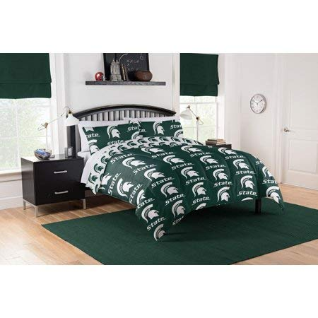 Official Michigan State Spartans Queen Bed in Bag - Set Bedding State