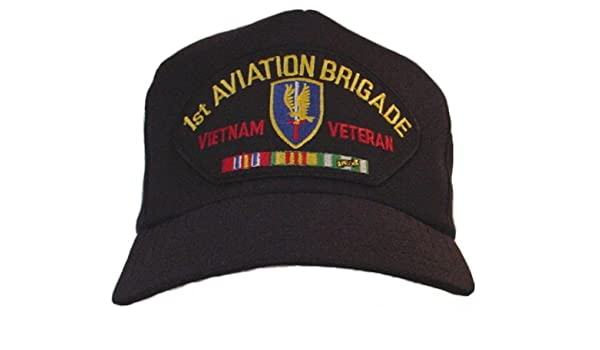 a07e9451381f8 1ST AVIATION BRIGADE   VIETNAM VETERAN W CAMPAIGN RIBBON EMBLEM Ball Cap   Hat at Amazon Men s Clothing store  Baseball Caps