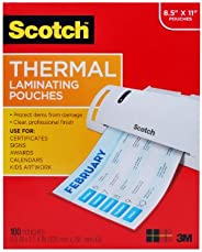 Scotch Thermal Laminating Pouches, 100-Pack, 8.9 x 11.4 inches, Letter Size Sheets (TP3854-100)