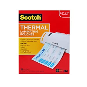 Laminating sheets by Scotch 3M
