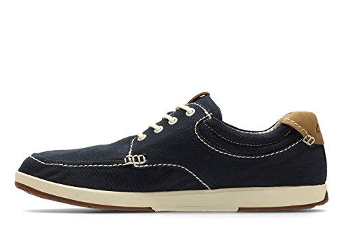 Clarks Casual Hombre Zapatos Norwin Vibe En Textil Azul