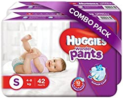 Huggies Wonder Pants Small Size Diapers Combo Pack of 2, 42 Counts Per Pack (84 Counts)