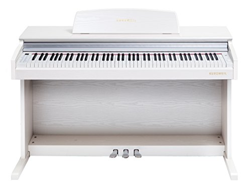 Kurzweil M210 88-Note Digital Console Piano with Arranger, White by Kurzweil