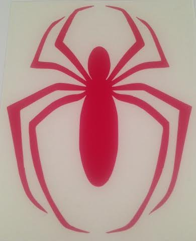 Spiderman Black Widow (Red) Decal | 5 In | Automobile, Laptop, Etc.,