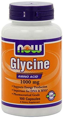 Now Foods Glycine 1000mg 200 Capsules