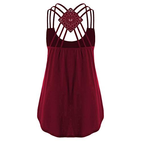 843359b6d2a1 HengshikejiWomen Loose Sleeveless Tank Top Cross Back Hem Layed Zipper  V-Neck T Shirts Tops Girls