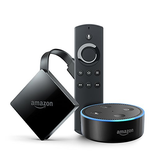 Fire TV with 4K Ultra HD and Alexa Voice Remote (Pendant Design) + Echo Dot
