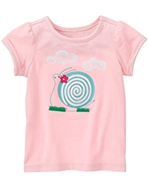 Girls Sweet Snail Tee & Stretch Jeans (6-12 months)