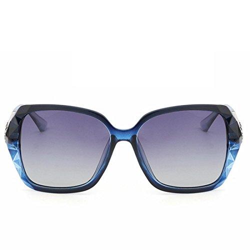 Sakuldes Protection UV polarisée à Femme Gray Lunettes Gray Lunettes Soleil Soleil à Monture Vintage Blue de Color Large de Blue BqrXxRBwI