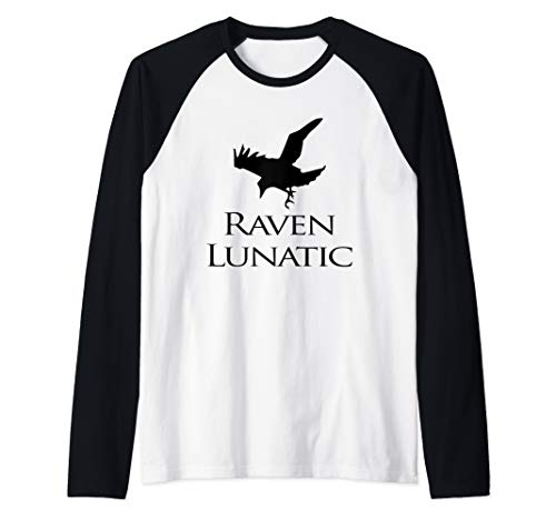Raven Lunatic Bird Funny Raven Lovers Women Men Raglan Baseball -