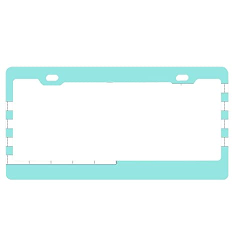 ABLnewitemFrameFF License Plate Frame for Women,car Licenses Plate Cover for Both Front and Back License Tag Aluminum Metal