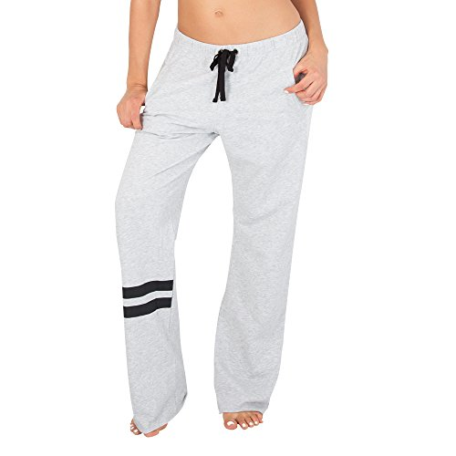 oyfriend Lounge Pant, Light Grey Heather Black Stripe, XS ()