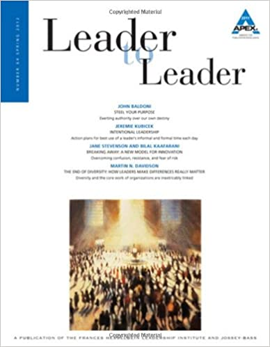 Leader to Leader (LTL) Spring, 2012: 64 (J-B Single Issue Leader to Leader)