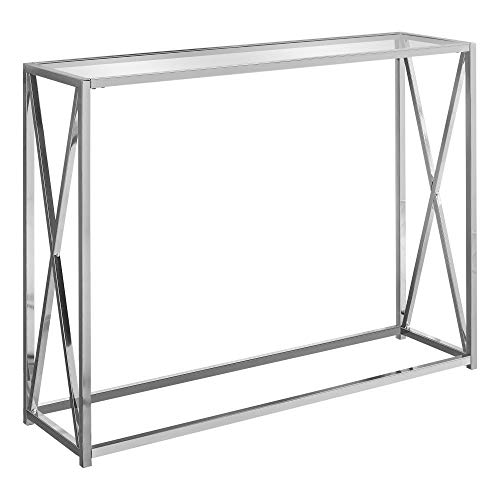 Monarch Specialties I 3442 Accent, Console Table, Chrome