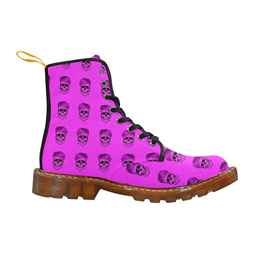 LEINTEREST Funny Skull Pattern, pink Martin Boots Fashion Shoes For Women
