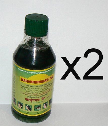 Mahabhringraj Oil 2 bottles of 200 ml ea, Scalp Massaging Oil Ramakrishna Pharma Brand - Ayurvedic Medicine ()