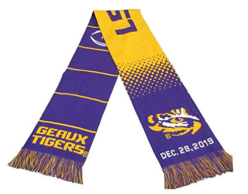 Official 2019 College Football Playoff Peach Bowl LSU Knitted Scarf