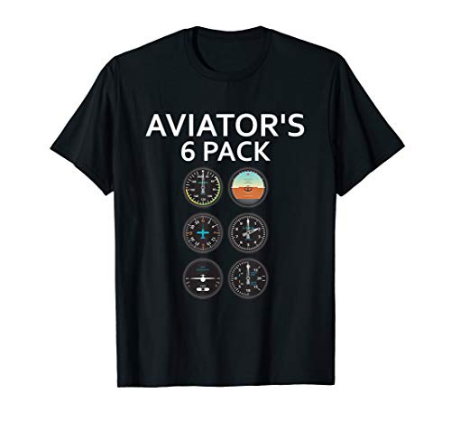 - Aviator 6 Pack T-Shirt: Pilot Novelty Humor