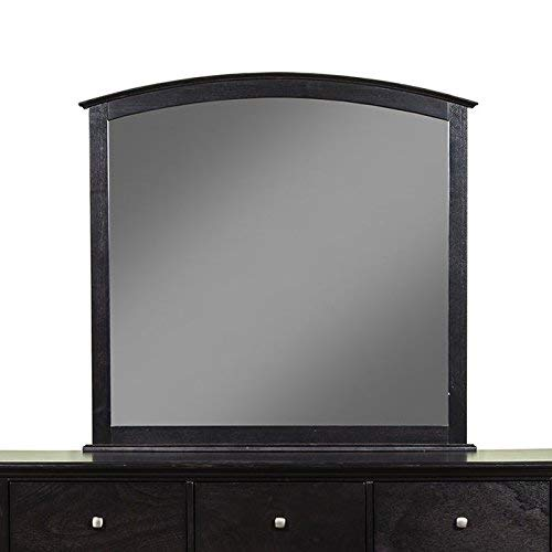 (Alpine Furniture 1688-06 Madison Mirror, Brown Merlot )